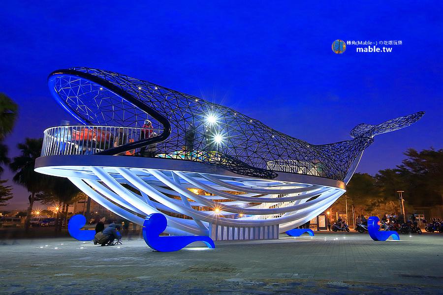 台南安平景點 大魚的祝福 新地標 外觀 夜景