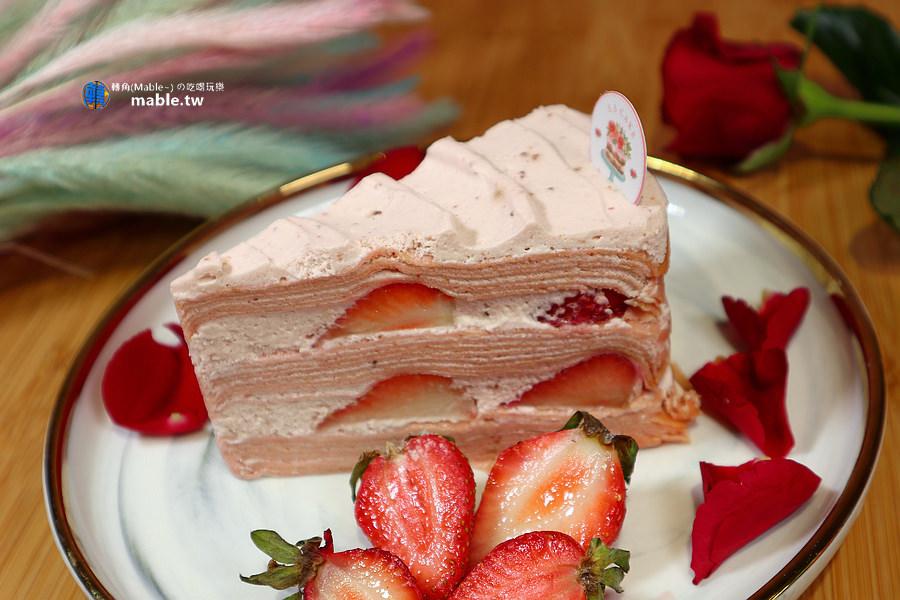 高雄下午茶 ss cake河堤店 草莓千層蛋糕