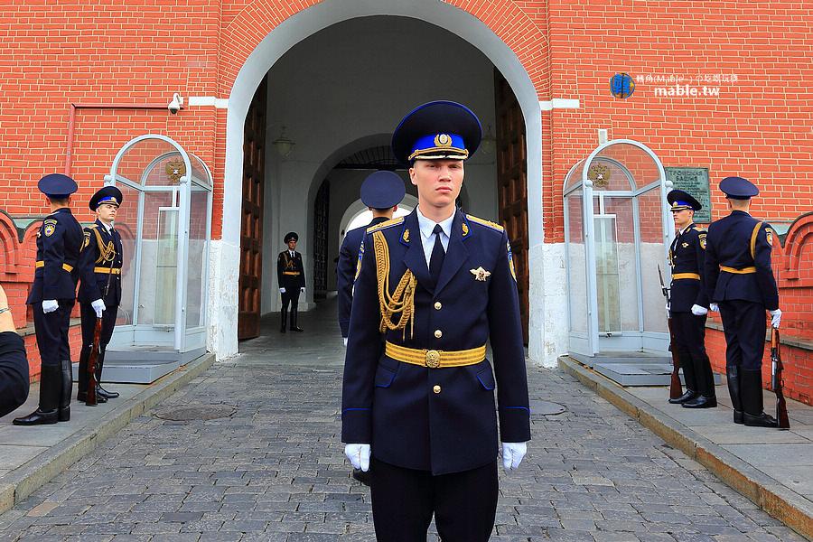 俄羅斯 莫斯科景點 聖三一塔樓 衛兵交接
