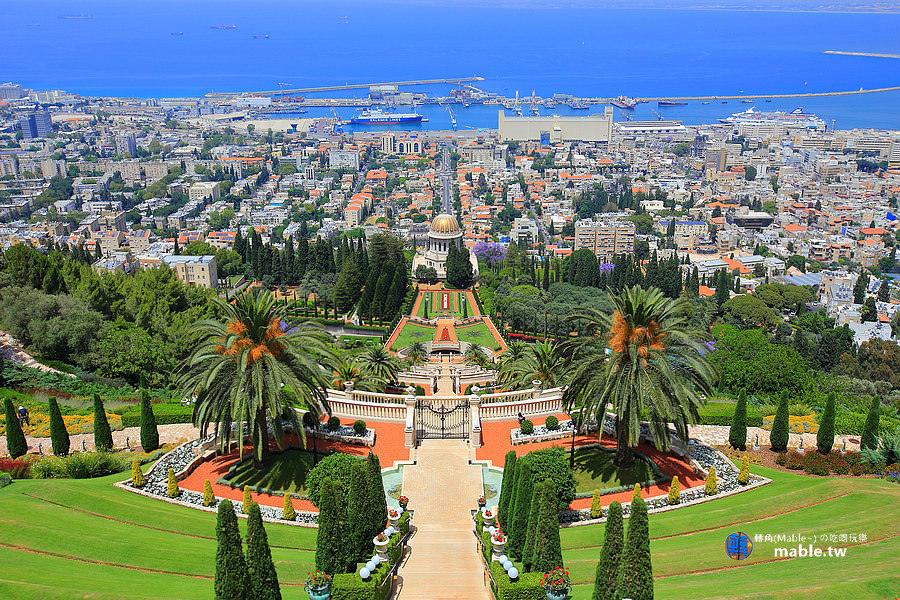以色列 海法 巴海聖殿花園
