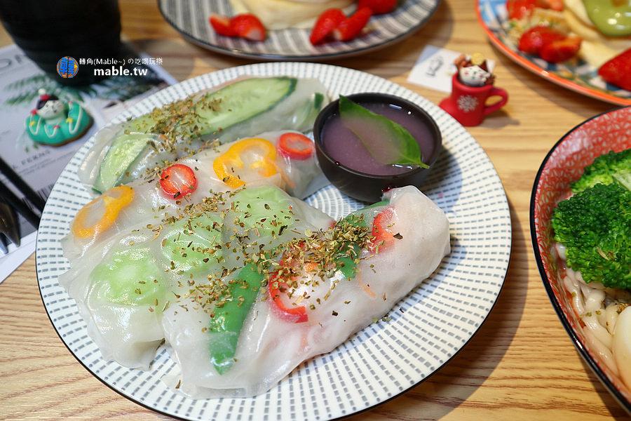 魚&吉 高雄逍遙園旁好吃舒芙蕾 越南春捲