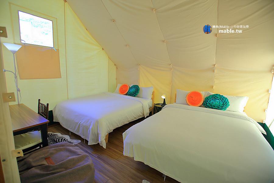 野漾莊園 新竹橫山豪華露營 帳篷內裝備