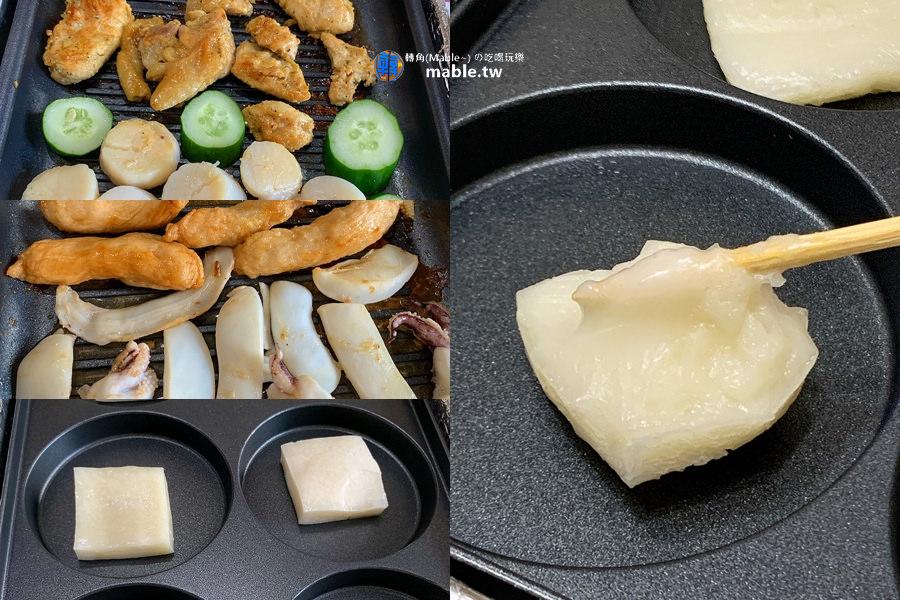 電烤盤料理 烤麻糬